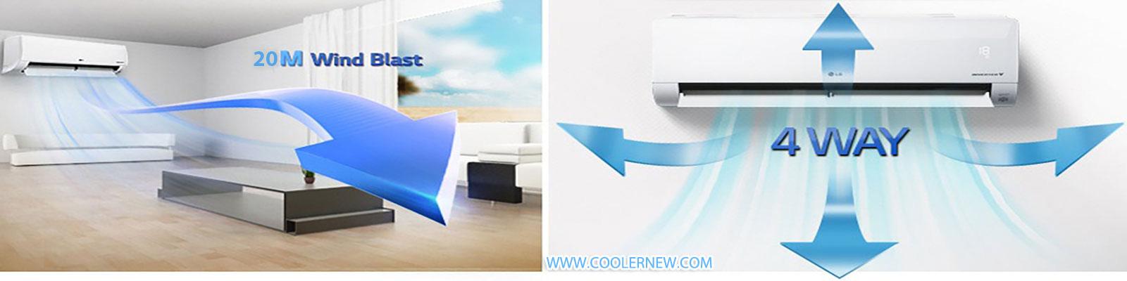 پرتاب باد الجی 18000 کم مصرف انرژی این کولر