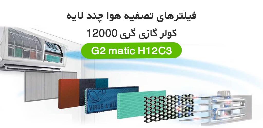 فیلتر نانو کولر گازی گری 12000 مدل g2matic h12c3